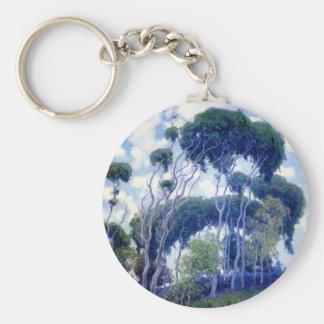 Guy Rose - Laguna Eucalyptus - Art Masterpiece Key Ring