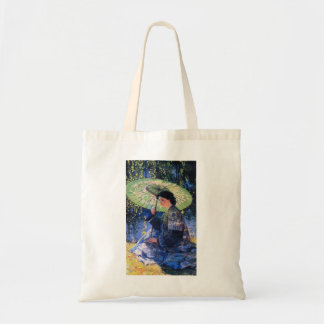 Guy Rose- The Green Parasol Tote Bags