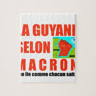 Guyana according to Macron is an island Jigsaw Puzzle