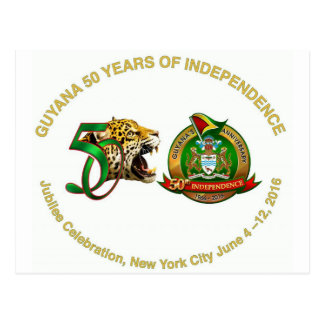 guyana anniversary post card