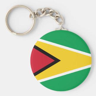 guyana basic round button key ring