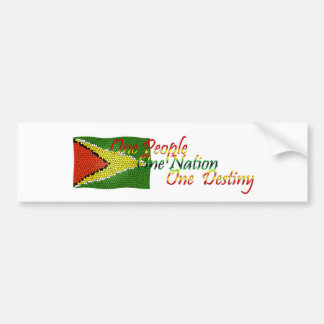 Guyana Bumper Sticker Flag with Motto
