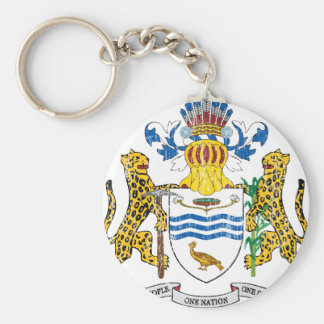 Guyana Coat Of Arms Basic Round Button Key Ring