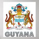 Guyana Coat of Arms Poster