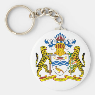guyana emblem basic round button key ring