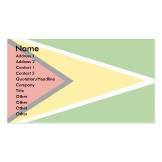 Guyana Flag Business Card Template