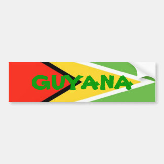 Guyana-Flag, GUYANA Bumper Sticker