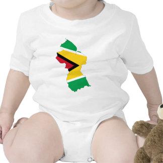 Guyana Flag Map Romper