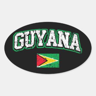 Guyana Flag Oval Sticker
