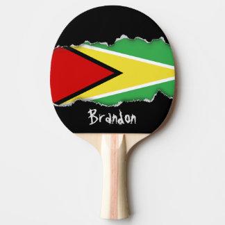 Guyana Flag Ping Pong Paddle