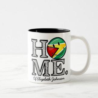 Guyana Flag Smiley Housewarmer Two-Tone Coffee Mug