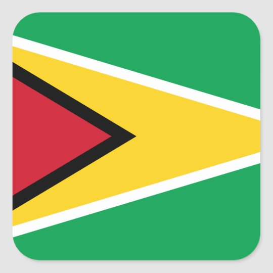 Guyana Flag Square Sticker