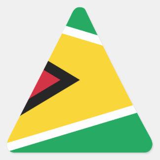 Guyana Flag Triangle Sticker