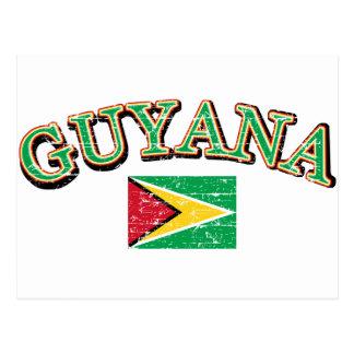 Guyana football design postcard