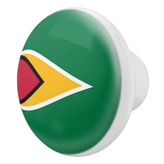 Guyana Guyanan Flag Ceramic Knob