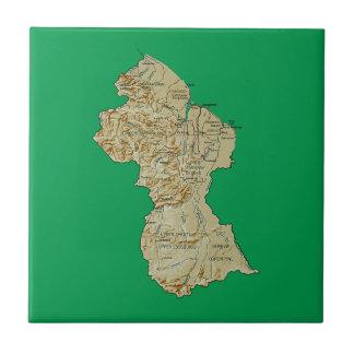 Guyana Map Tile