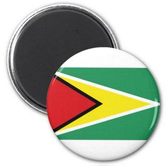 Guyana National Flag 6 Cm Round Magnet