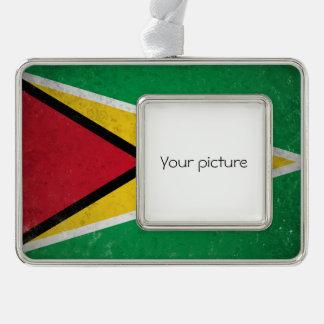 Guyana Silver Plated Framed Ornament