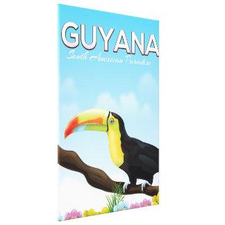 Guyana South american paradise travel poster Canvas Print