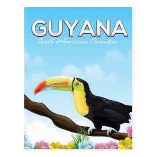 Guyana South american paradise travel poster Postcard