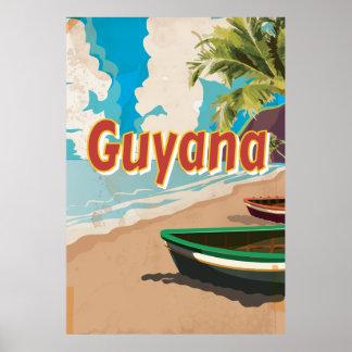Guyana Vintage vacation Poster