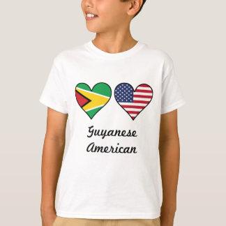 Guyanese American Flag Hearts T-Shirt