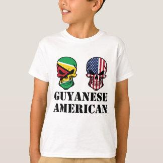 Guyanese American Flag Skulls T-Shirt