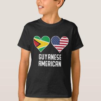 Guyanese American Heart Flags T-Shirt