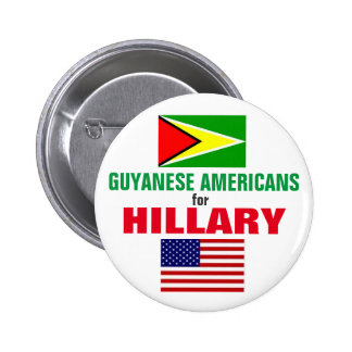 Guyanese Americans for Hillary 2016 6 Cm Round Badge