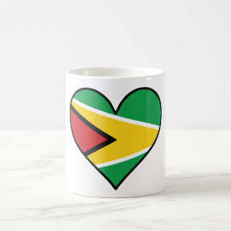 Guyanese Flag Heart Coffee Mug