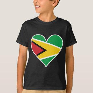 Guyanese Flag Heart T-Shirt