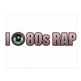 guys girls 80s RAP MUSIC HIP-HOP JAMS Postcard
