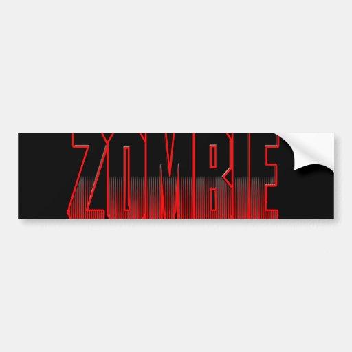 guys girls undead zombies funny zombie shirt bumper sticker