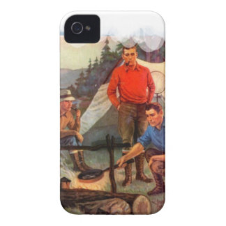 Guys only camping trip Case-Mate iPhone 4 cases