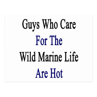 Guys Who Care For The Wild Marine Life Are Hot Post Card