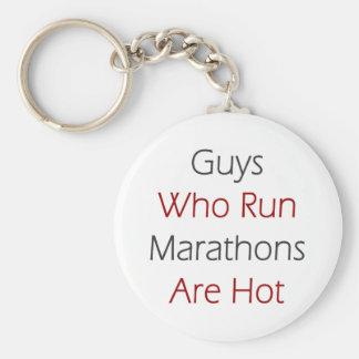 Guys Who Run Marathons Are Hot Key Ring
