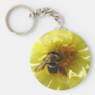 GV- Busy Bee Basic Round Button Key Ring