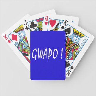 gwapo text handsome Tagalog filipino cebuano Bicycle Playing Cards