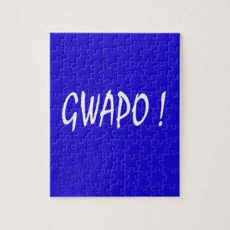 gwapo text handsome Tagalog filipino cebuano Jigsaw Puzzle