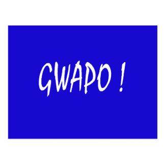 gwapo text handsome Tagalog filipino cebuano Postcard