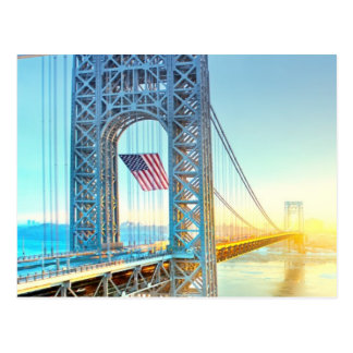 GWB connecting Fort Lee NJ and Manhattan NYPlus Postcard
