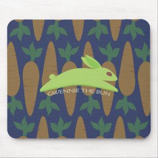 Gwennie The Bun Carrot Night Mouse Pad