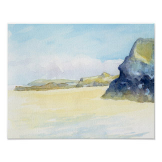 Gwithian beach poster