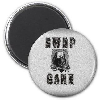 GWOP GANG OGO PLAIN 6 CM ROUND MAGNET