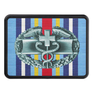 GWOT Ribbon Combat Medical Badge Hitch Cover