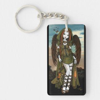 Gwyneth Sunset Dragon Lantern Angel Keychain