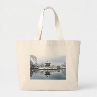 gyeongbok asian palace large tote bag