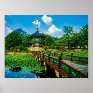 Gyeongbokgung Palace, South Korea Poster