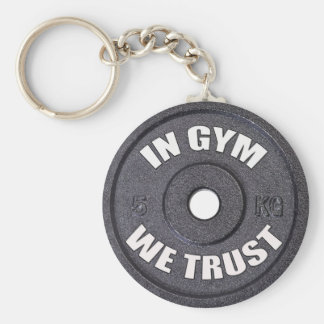 Gym Addict Funny Keychain Basic Round Button Keychain