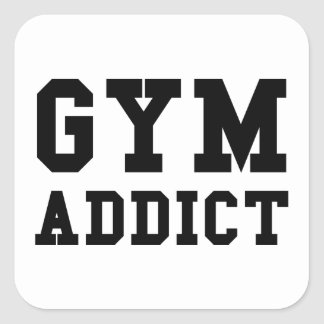GYM ADDICT SQUARE STICKER